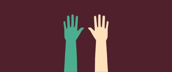 Ilusión de la mano de goma
